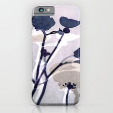 abstract florals  ~ color option deep blue iPhone 6s Slim Case
