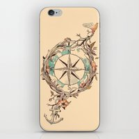 voyage iPhone & iPod Skins featuring Bon Voyage by Norman Duenas
