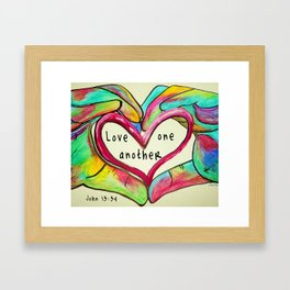 Love One Another John 13:34 Framed Art Print