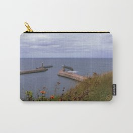 Sea scape of Whitby, England Carry-All Pouch