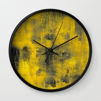 spice Wall Clocks featuring safron spice by patternization