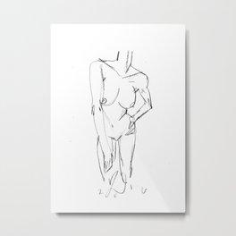 nude study 2016-05-06 Metal Print