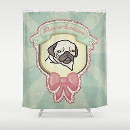 Pug-o-licious Shower Curtain