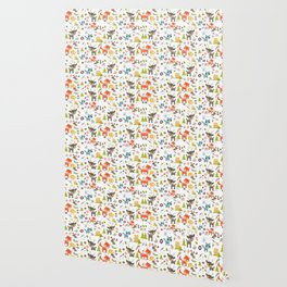 Cute Woodland Creatures Pattern Wallpaper