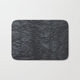 Abstract modern black gray creased paper texture Bath Mat
