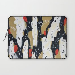 Spotted Abstract in Neutral Laptop Sleeve