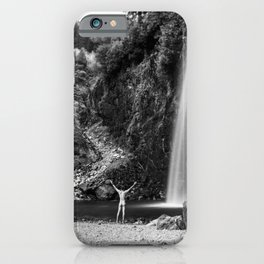 Naked Long Exposure Waterfall iPhone Case