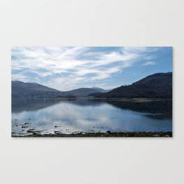 View over the Loch Canvas Print