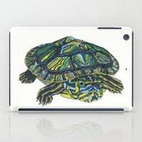 turtle iPad Cases featuring Turtle by Aina Serratosa