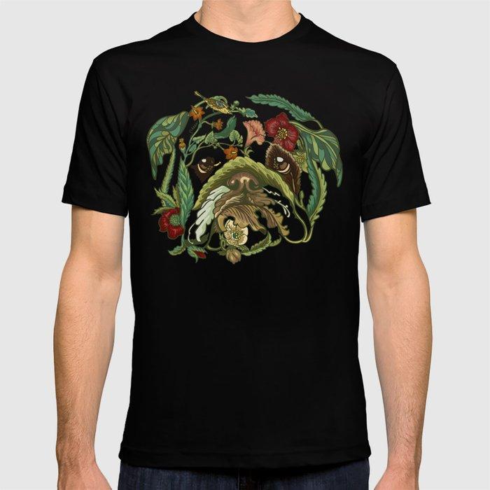 Botanical english bulldog t shirt by huebucket society6 T shirts for english bulldogs