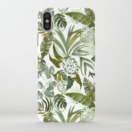 Wild botany in the jungle iPhone Case