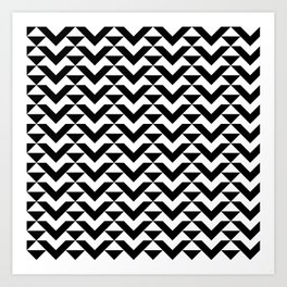 BW Tessellation 6 1 Art Print