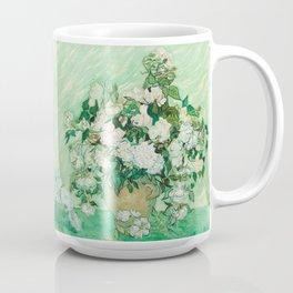 Vase with Pink Roses by Vincent van Gogh Coffee Mug