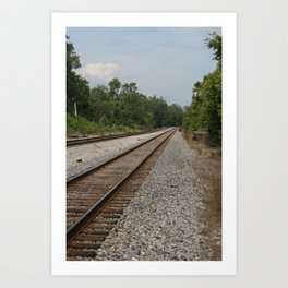 Railroad Tracks To No Where Art Print