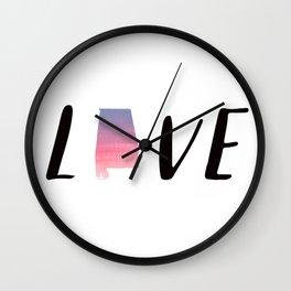 Alabama Love - Sunset Watercolor State Wall Clock