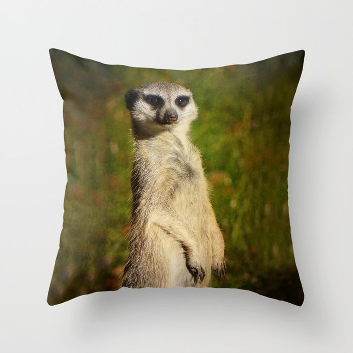 I Am A Model A Meerkat Throw Pillow By Gunadesign Society6
