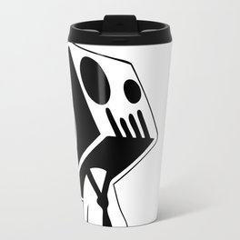 Boxed Skull, Named Ick - Business and Pleasure Travel Mug