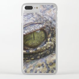 Crocodiles eye Clear iPhone Case