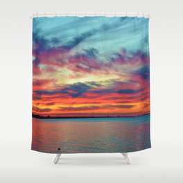 Sunset on Lake St. Clair in Belle River, Ontario Shower Curtain