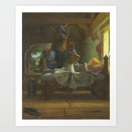 Goldilocks Discovered Art Print