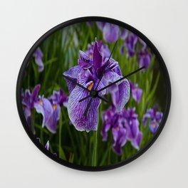 Garden Party (irises) Wall Clock