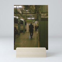 """Under Wall Street"" color film photo Mini Art Print"