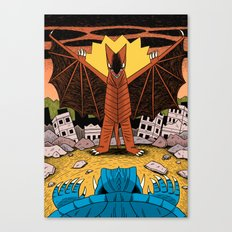 Kaiju Battle! Canvas Print