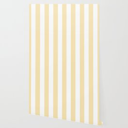 Banana Mania pink - solid color - white vertical lines pattern Wallpaper