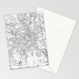 Milan Map Line Stationery Cards