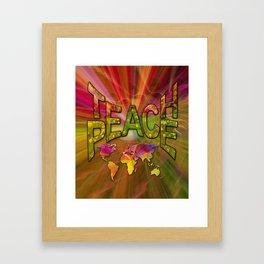 Teach Peace Framed Art Print