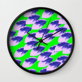 The Limeade Leaves Wall Clock