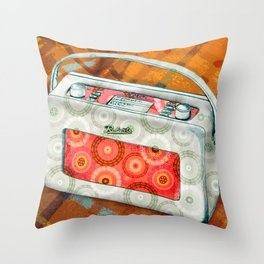 Cosy sounds on the radio Throw Pillow