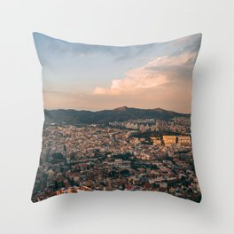 Over Barcelona 04 Throw Pillow