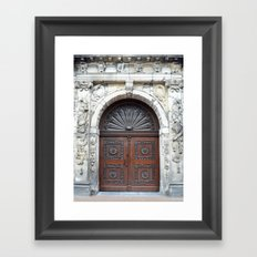 Dutch door Framed Art Print