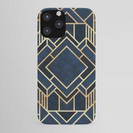 Art Deco Fancy Blue iPhone Case