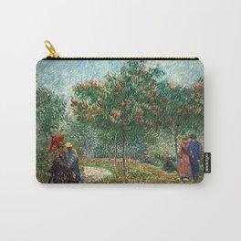 Vincent van Gogh - Couples in the Voyer d'Argenson Park at Asnières Carry-All Pouch