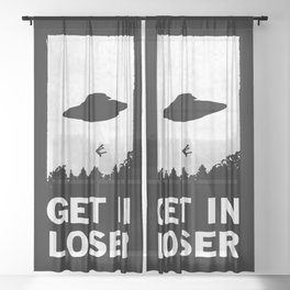Get In Loser Sheer Curtain
