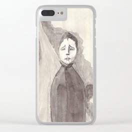 Waiting After Nightfall Clear iPhone Case