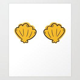 Shell Bra Art Print