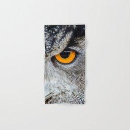 NIGHT OWL - EYE - CLOSE UP PHOTOGRAPHY - ANIMALS - NATURE Hand & Bath Towel