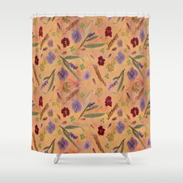 Coral Garden Meadow Shower Curtain