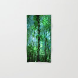 Forest Of The Fairies Green Blue Hand & Bath Towel