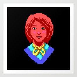 Meet Nancy Maple - The Crimson Diamond Art Print