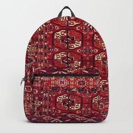 Tekke  Antique West Turkestan Rug Print Backpack