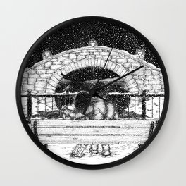 Snowfall in the Park Wall Clock