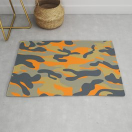 Military camouflage pattern 16 Rug