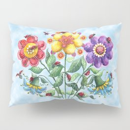 Ladybug Playground on a Summer Day Pillow Sham