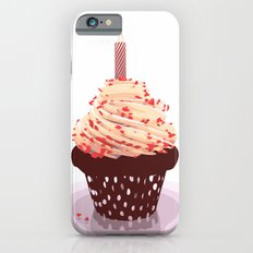 Birthday Cup Cake with Candle & Hearts iPhone 6s Slim Case
