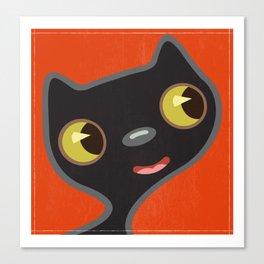 Black Kitty 2 Canvas Print