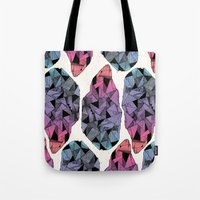 diamond Tote Bags featuring Diamond by Hamburger Hands